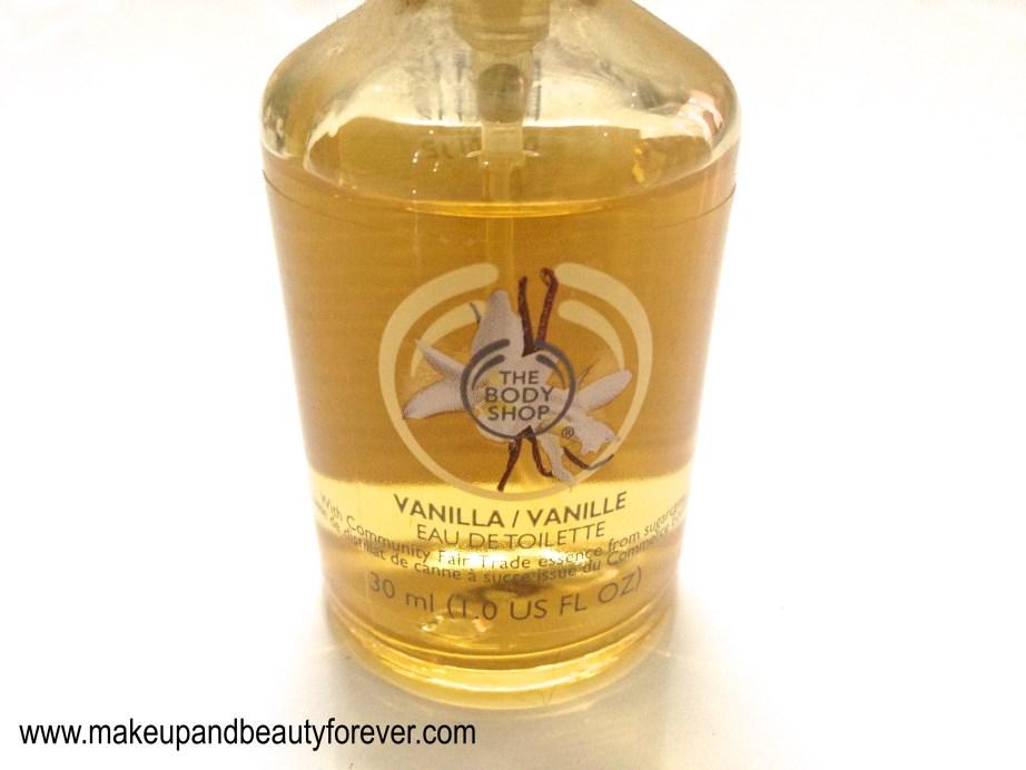 The Body Shop Vanilla Eau de Toilette Review India