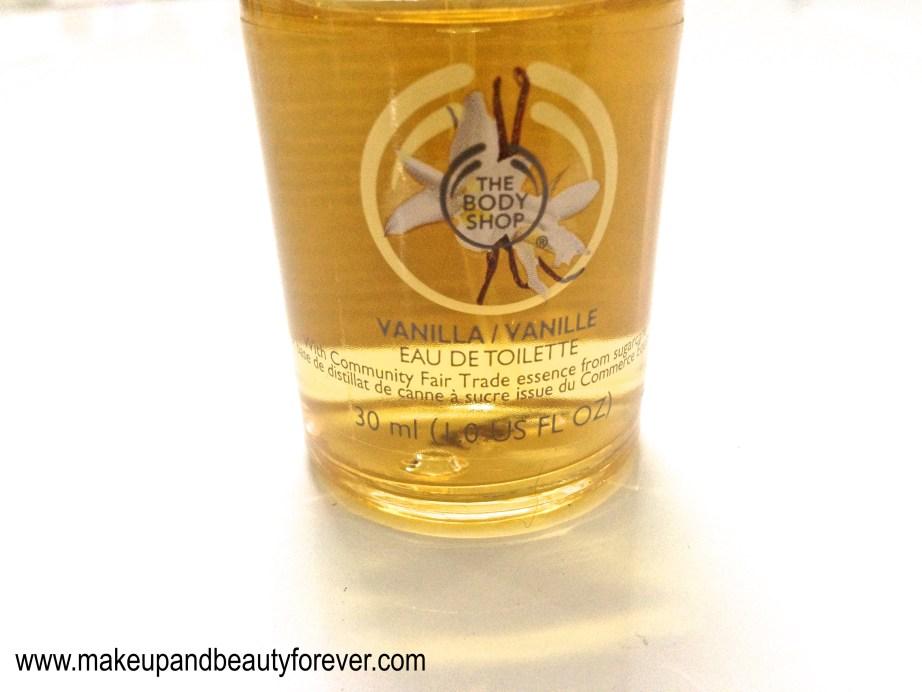 The Body Shop Vanilla Eau de Toilette Review Indian beauty and makeup blog