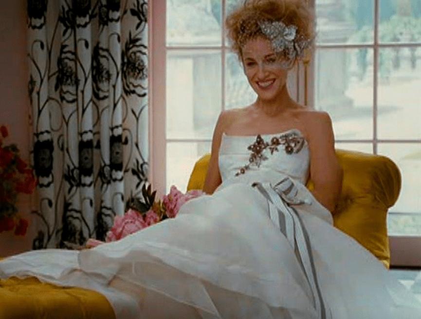 Carrie Bradshaw's vogue Wedding Dress by Caroline Herrera