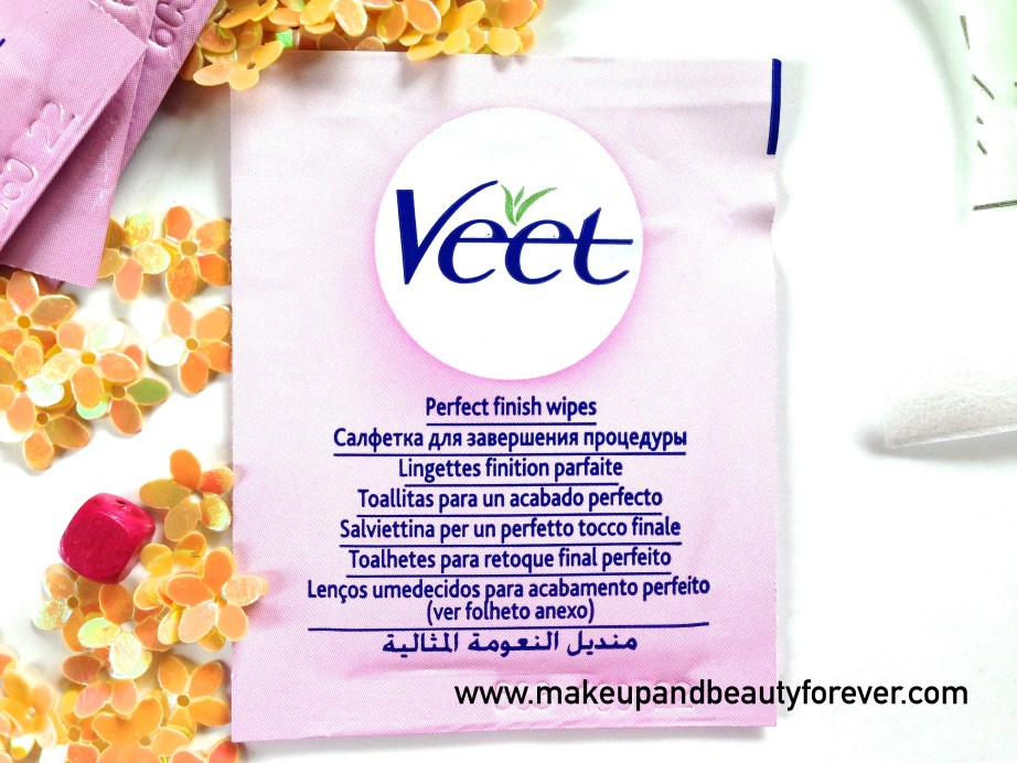 Veet Easy Grip Ready-to-Use Wax Strips Full Body Waxing Kit for Dry Skin Finishing wipes