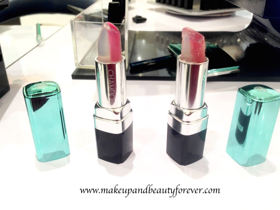 Chambor Happy Hues Moisture Plus Lipstick Ocean Roses Ice Berries Review Shades Swatches Price India