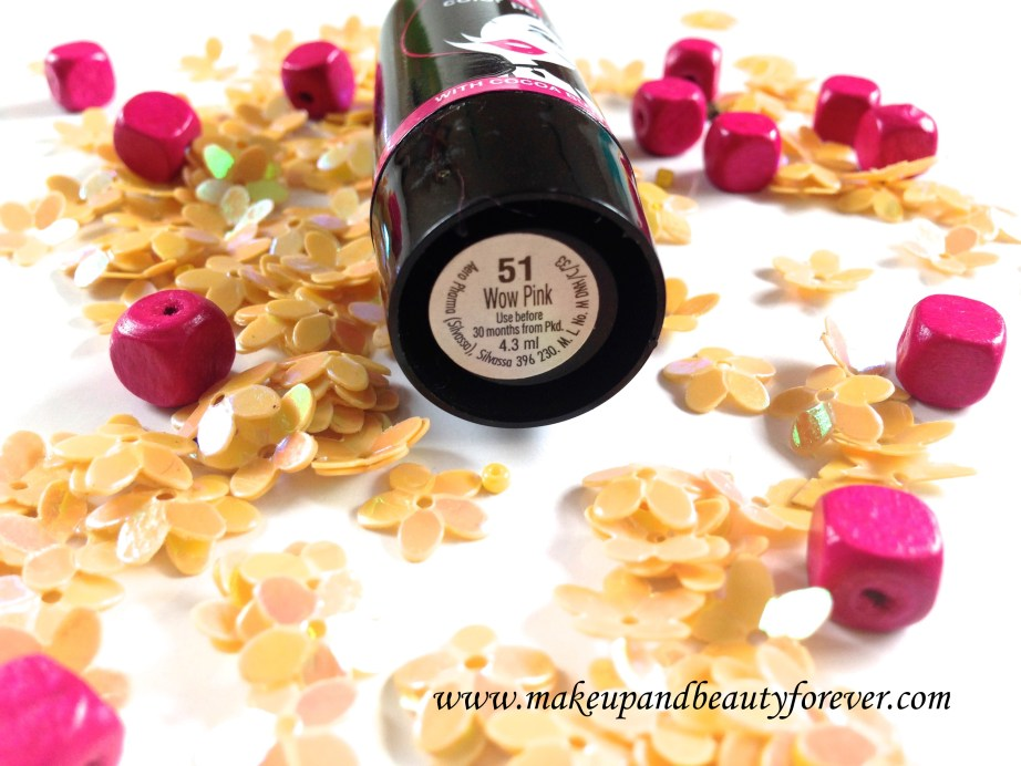 Elle 18 Color Pops Lipstick Wow Pink 51 Review Swatches