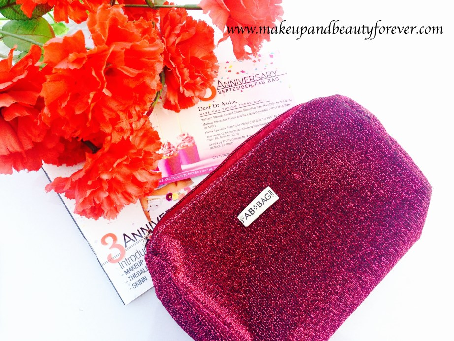 Fab Bag September 2015 3rd Anniversary Special Beauty Blog