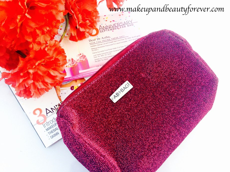 Fab Bag September 2015 3rd Anniversary Special