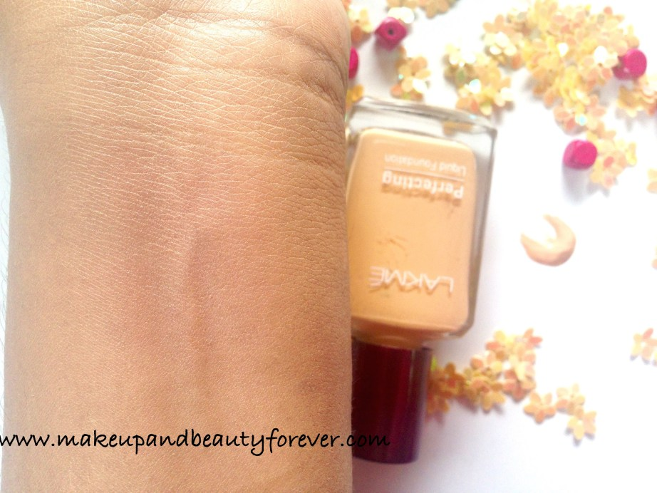 Lakme Perfecting Liquid Foundation Review Swatches Shell India
