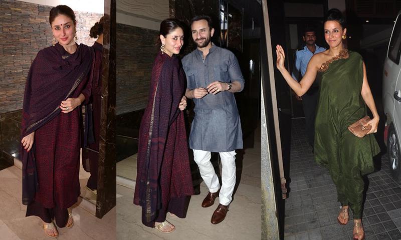 Neha Dhupia Kareena Kapoor Saif at Soha Wedding Mehendi