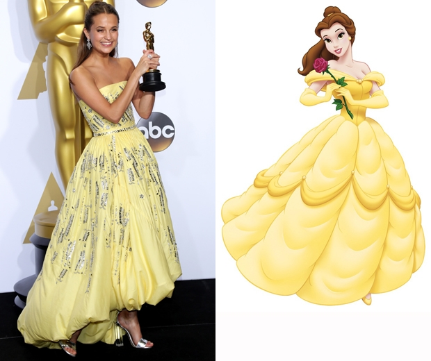 Alicia Vikander oscars 2016 belle beauty and the beast