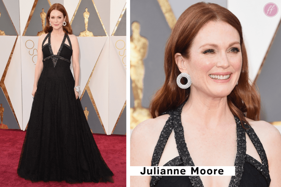Julianna Moore Oscar Chanel dress 2016
