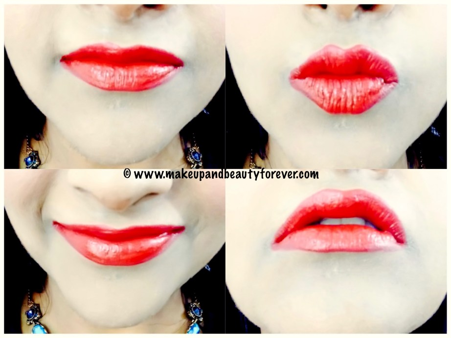 Lakme Enrich Satin Lipstick Red R 352 Review Swatches FOTD Lips Red Lipstick MakeupandBeauty Forever MBF