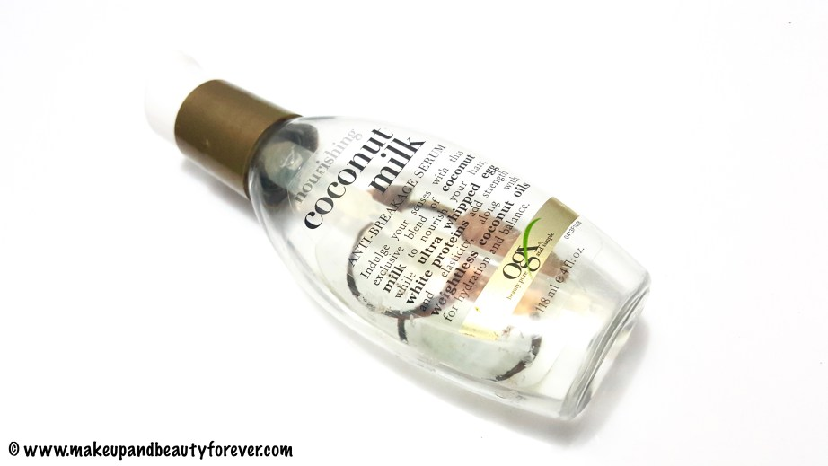 Organix Nourishing Coconut Milk Anti Breakage Serum Review