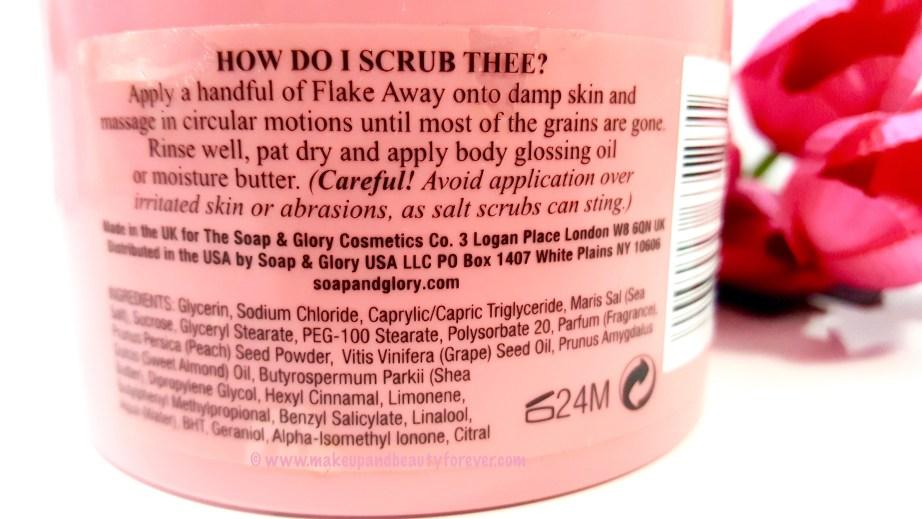 Soap & Glory Flake Away Body Scrub Polish Review Ingredients