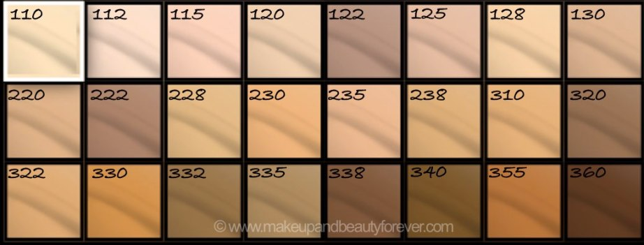 All Maybelline Fit Me Matte Poreless Foundation Review Shades Swatches