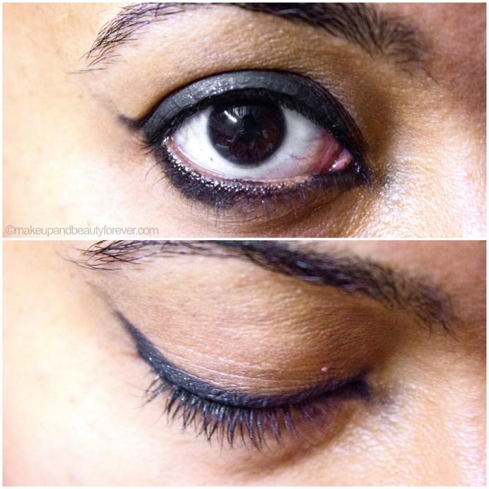 MAC Black Tied Eyeshadow Review Swatch EOTD on eyes photo image