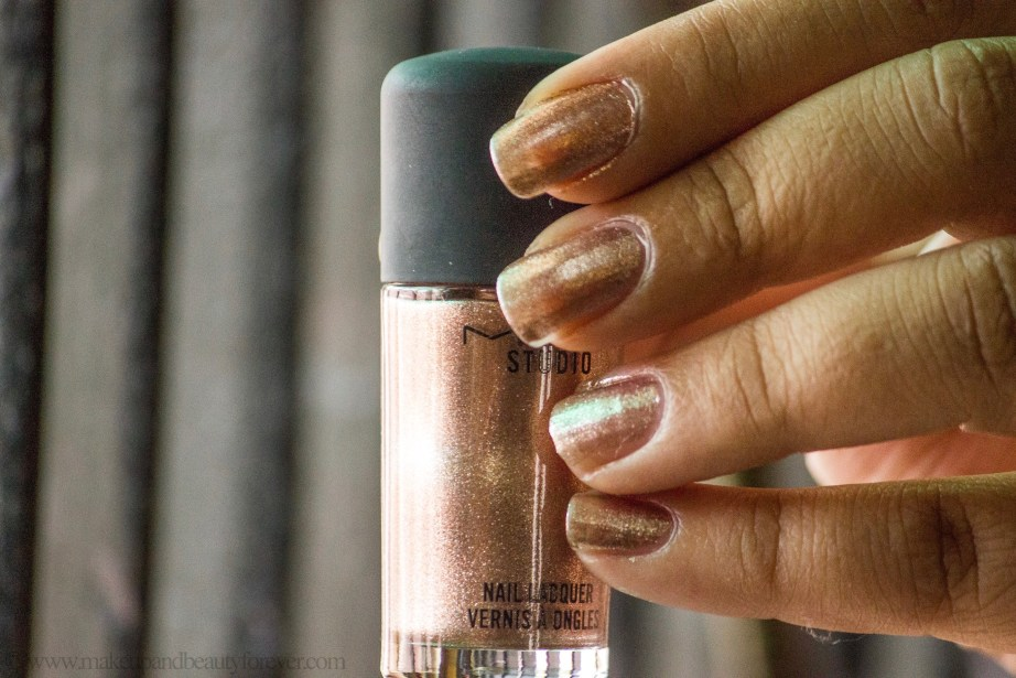 MAC Soiree Nail polish Lacquer Review photos Swatches