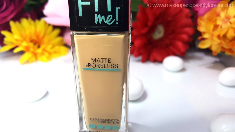 Maybelline Fit Me Matte Poreless Foundation Review Shades Swatches Details