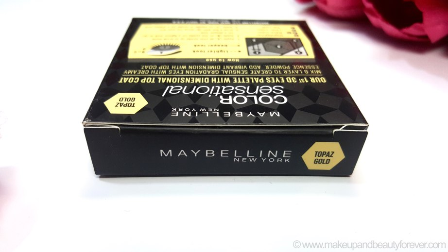 New Maybelline Color Sensational Diamonds EyeShadow Palette Topaz Gold Review, Swatches