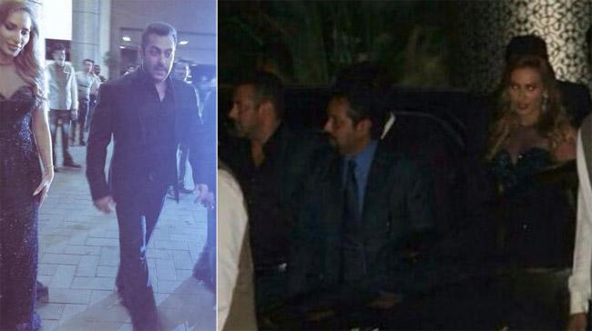 Salman Khan Iulia Vantur at Preity Zinta wedding reception