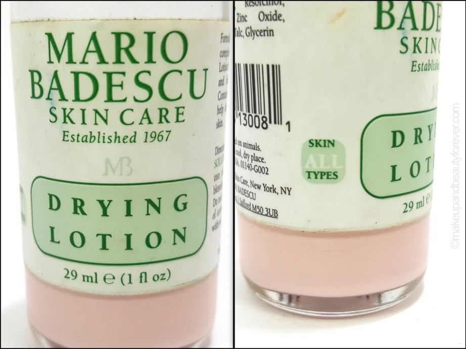 Mario Badescu Drying Lotion review all skin types