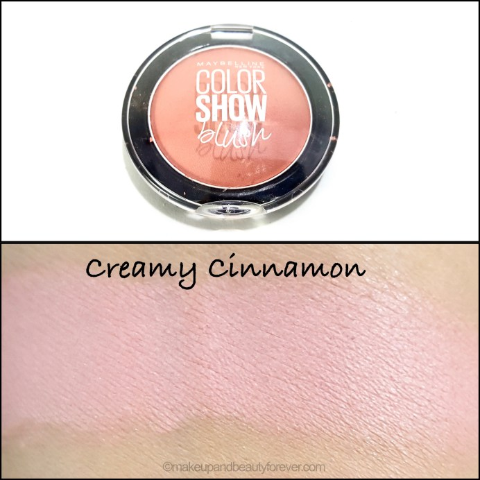Maybelline Color Show Blush Creamy Cinnamon Review Swatches