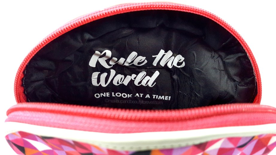Sugar Cosmetics Vanity Pouch Rule the World One look at a time
