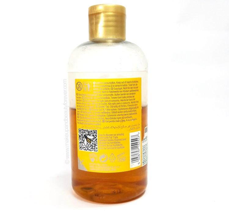 The Body Shop Honeymania Shower Gel Review back