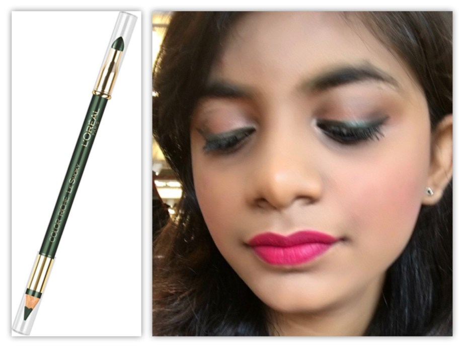 L'Oreal Color Riche Le Smoky Pencil Eyeliner Antique Green 209 Review Swatches tutorial MBF