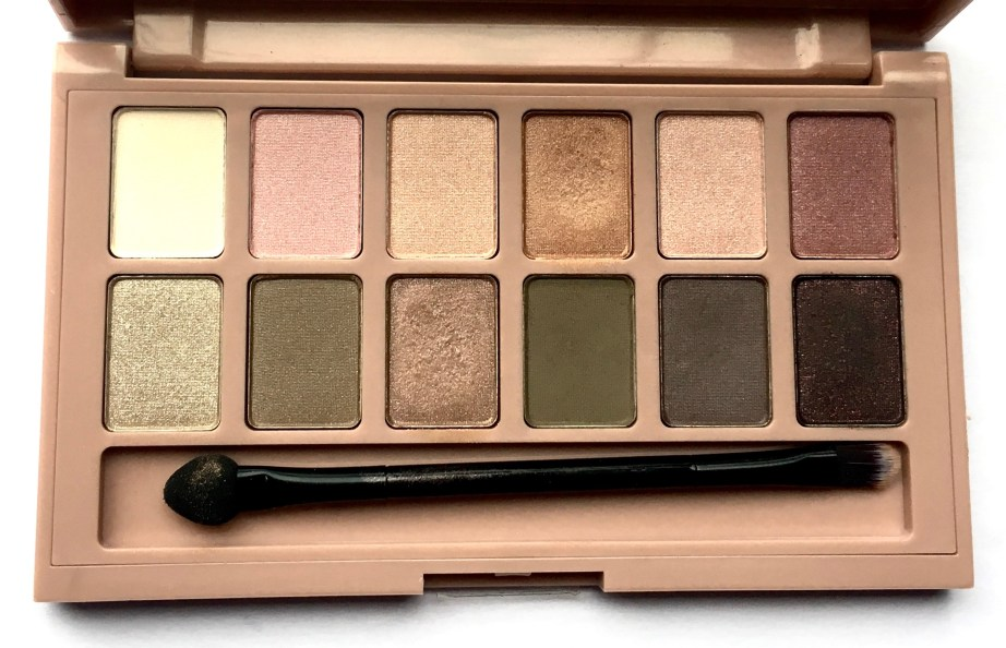 Maybelline The Blushed Nudes Palette Review Swatches Makeup look
