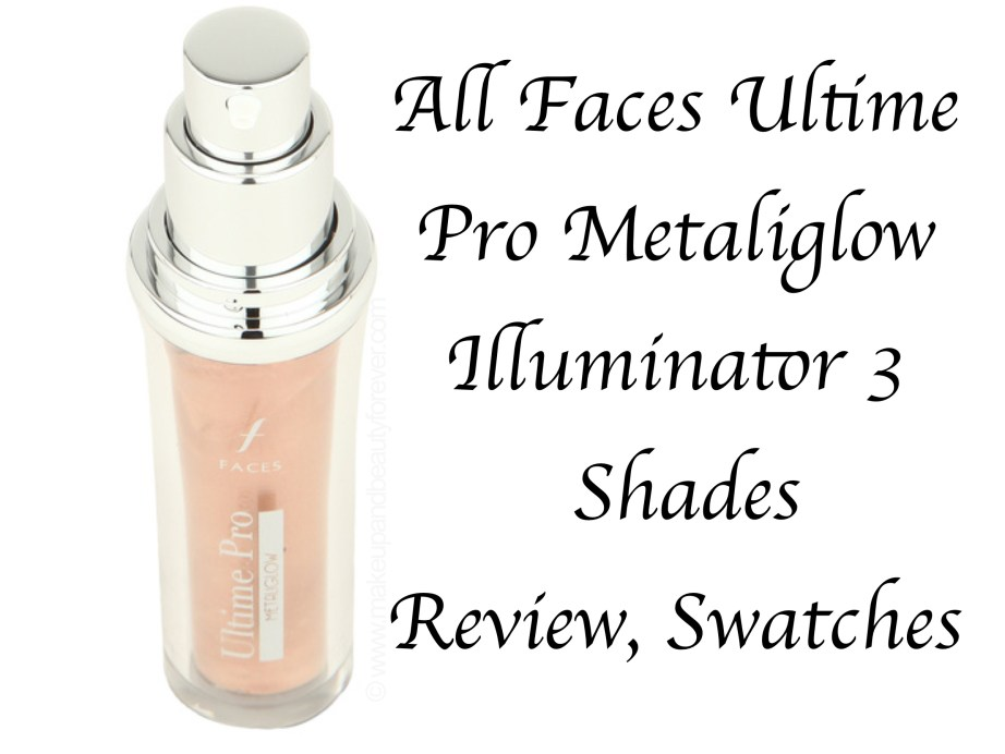 All Faces Ultime Pro Metaliglow Illuminator Opal Topaz Champagne 3 Shades Review Swatch MBF Blog