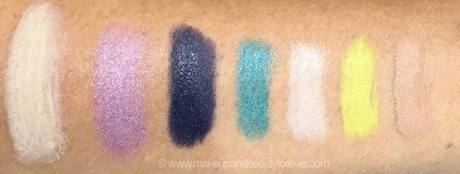 All MAC Pro Longwear Waterproof Colour Stick Eye Shadows Shades Review Swatches Tabby Sweet Viola Midnight Shadows Ever Evergreen At the Beach Madly Sunny Sand Bar mbf