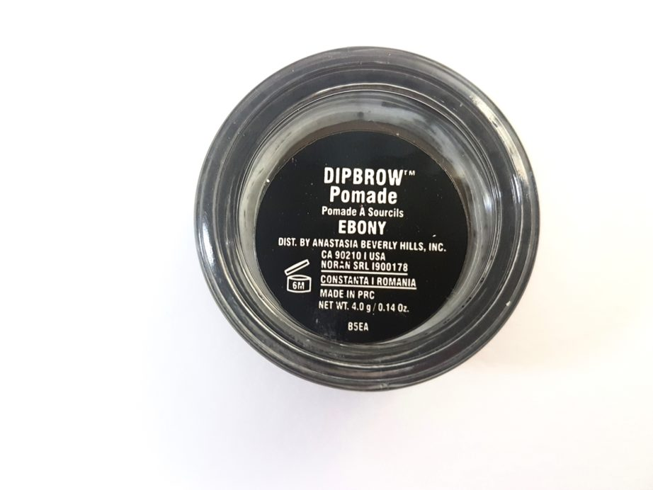 Anastasia Beverly Hills Dipbrow Pomade Review Swatches ebony