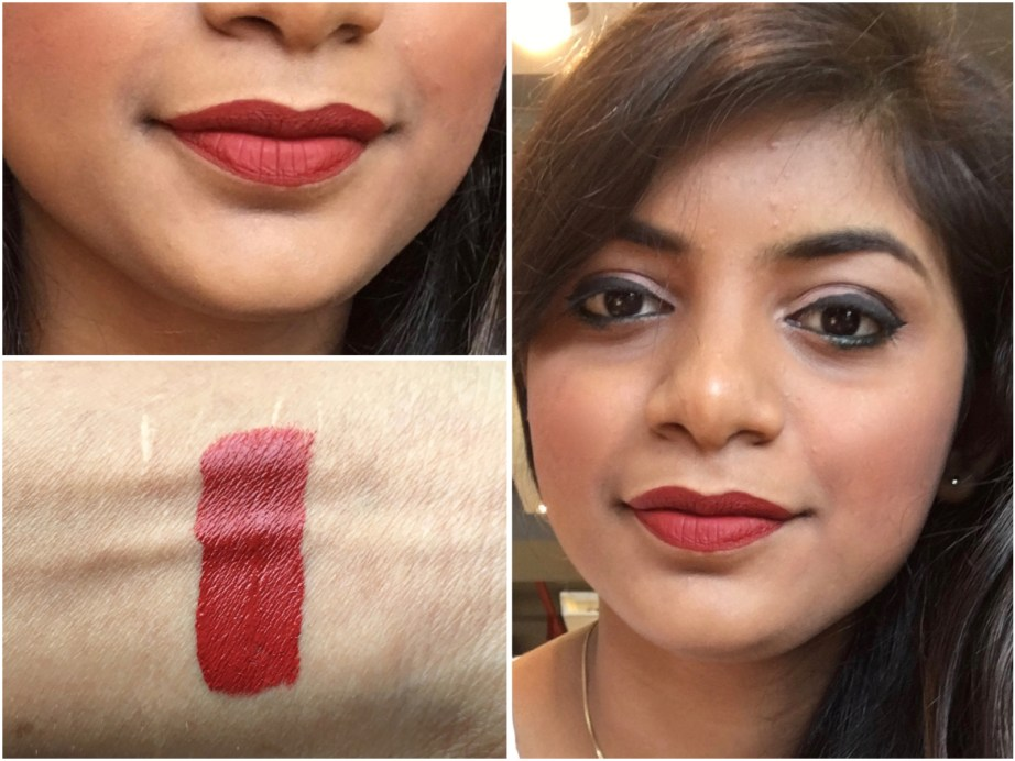 Chambor Extreme Wear Liquid Lipstick Shade 432 Review Swatches on lips