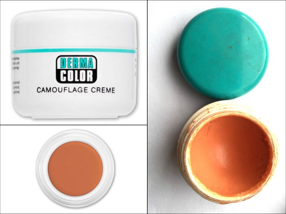 Kryolan Derma Color Camouflage orange corrector Crème D 30 for dark circles Review Swatches Demo Details