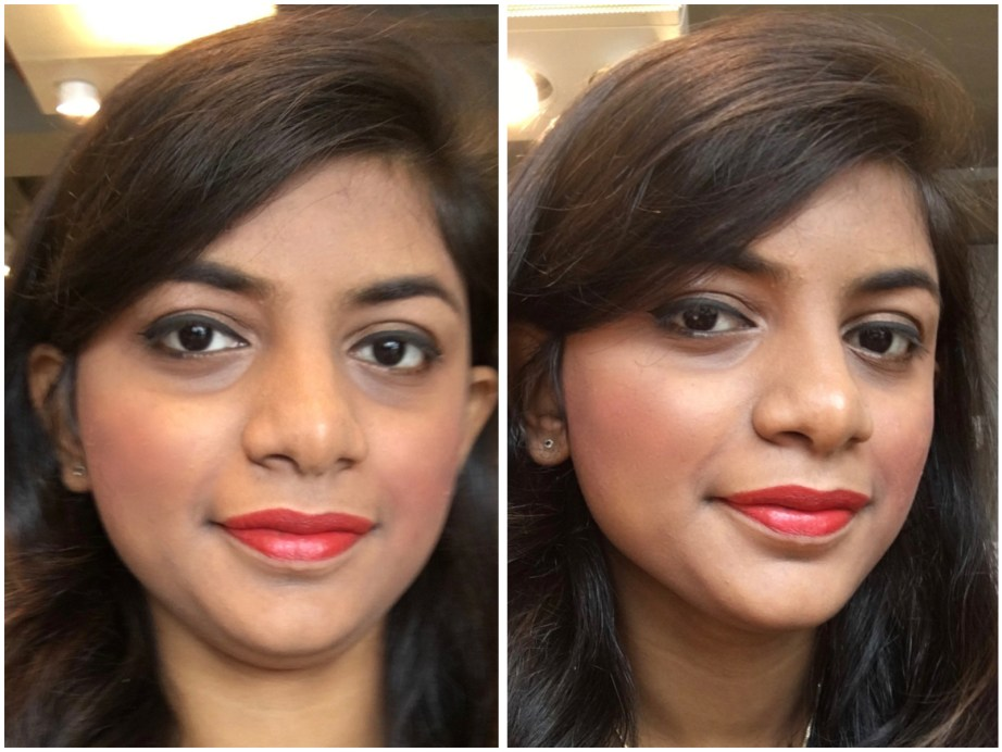 Lakme Absolute Sculpt Matte Lipstick Coral Flare Review Swatches MBF Makeup Look