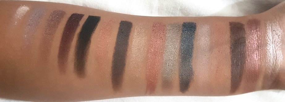 Makeup Revolution I Heart Makeup Naked Underneath Eyeshadow Palette Review Swatches hand