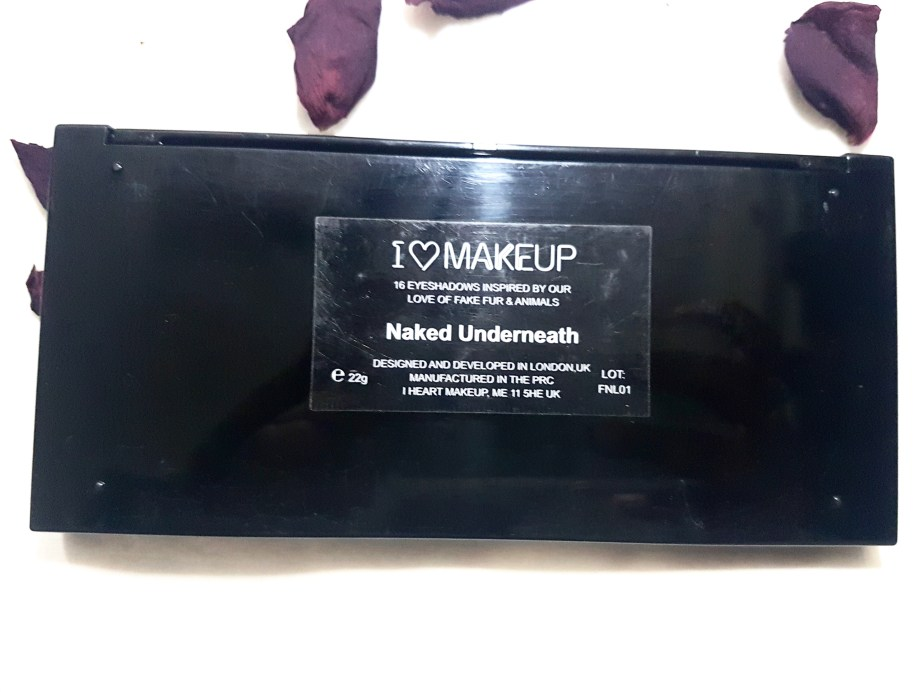 Makeup Revolution I Heart Makeup Naked Underneath Eyeshadow Palette Review