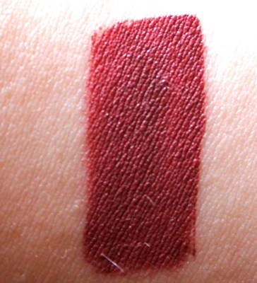 Dose of Colors Matte Liquid Lipstick Brick Review Swatches hand