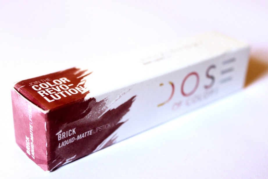 Dose of Colors Matte Liquid Lipstick Brick Review