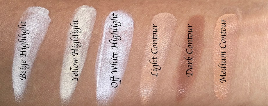 Freedom Pro Cream Strobe Palette with Brush Review Swatches with names