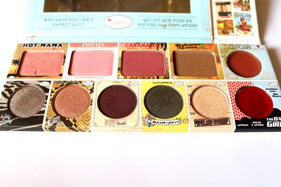 In the Balm of Your Hand Palette Review Swatches blush bronzer eye shadow