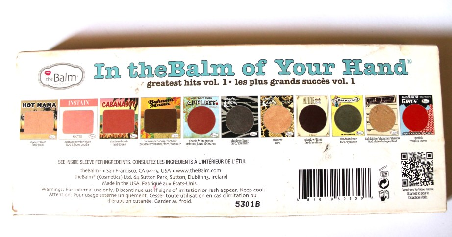 In the Balm of Your Hand Palette Review Swatches Info