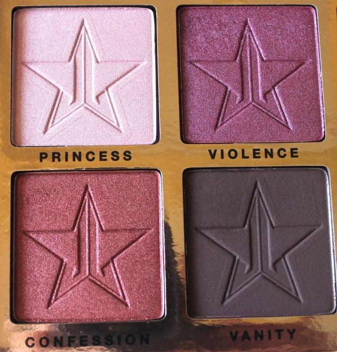Jeffree Star Beauty Killer Palette Review Swatches quad 2