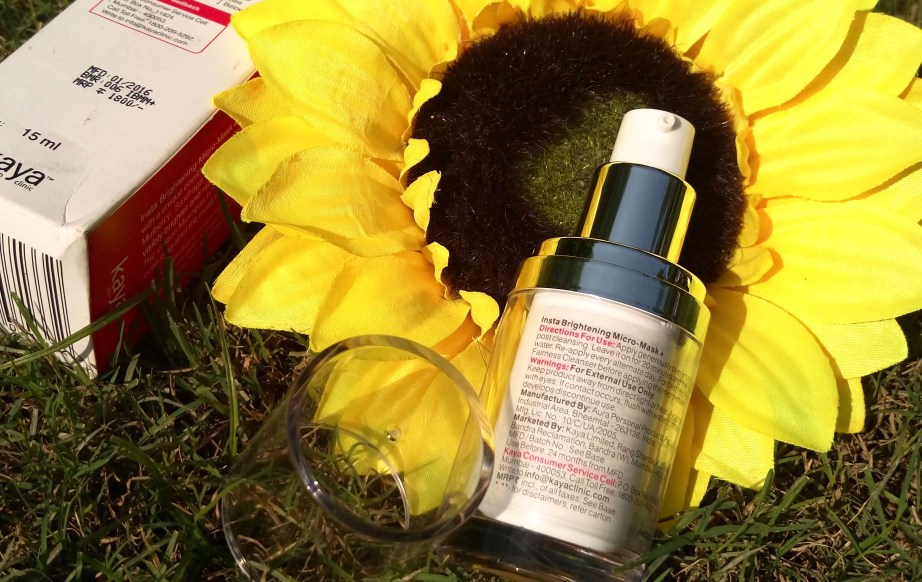 Kaya Insta Brightening Micro Mask Review Swatches blog