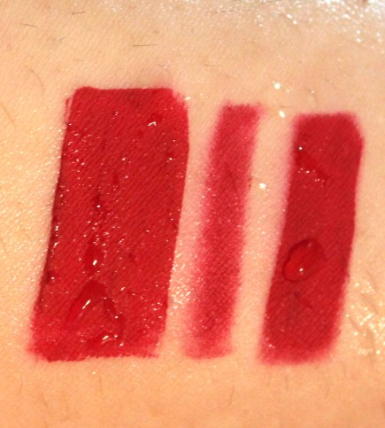Kylie Jenner Lip Kit Mary Jo K Review Swatches water test