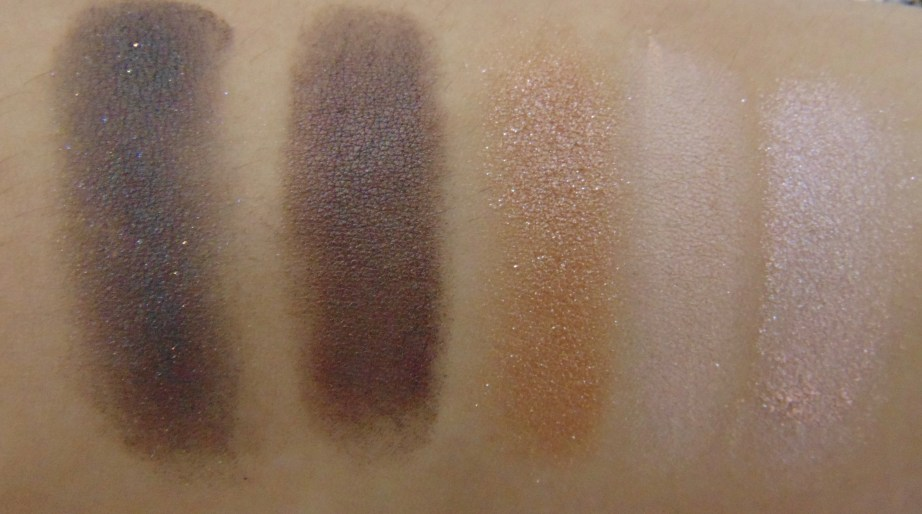 MAC Veluxe Pearlfusion Eyeshadow Palette Copperluxe Review Swatches shades