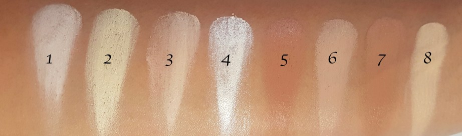 Makeup Revolution Ultra Cream Contour Palette Review Swatches on hand