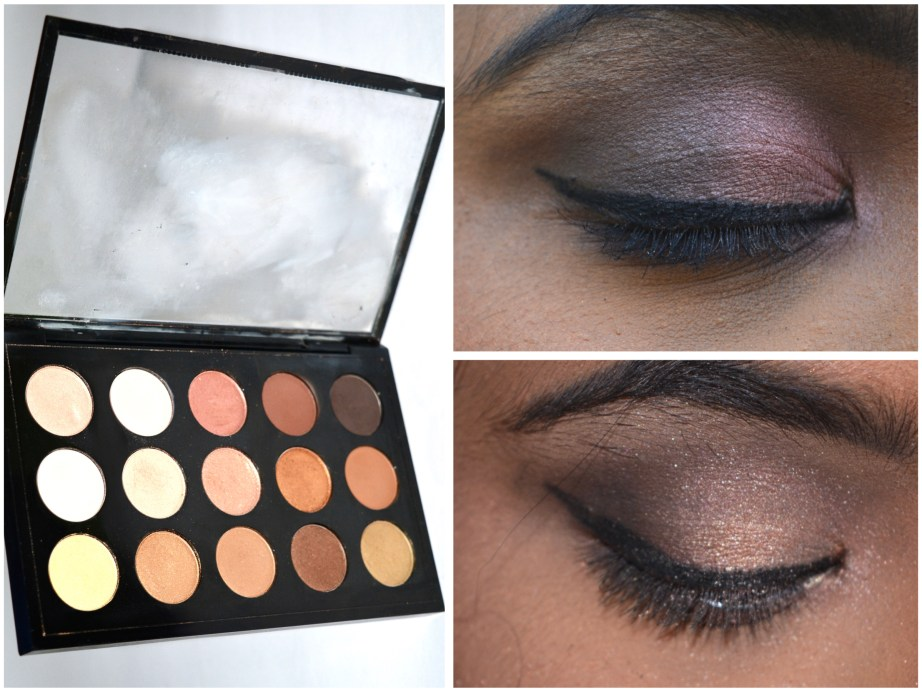 MAC Eyeshadow x 15 Warm Neutral Palette Review Swatches MBF Eye makeup Looks