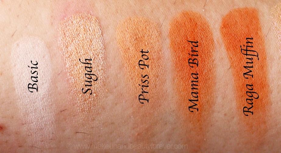 Violet Voss x Laura Lee Eye Shadow Palette Review Swatches Basic Sugah Priss Pot Mama Bird Raga Muffin
