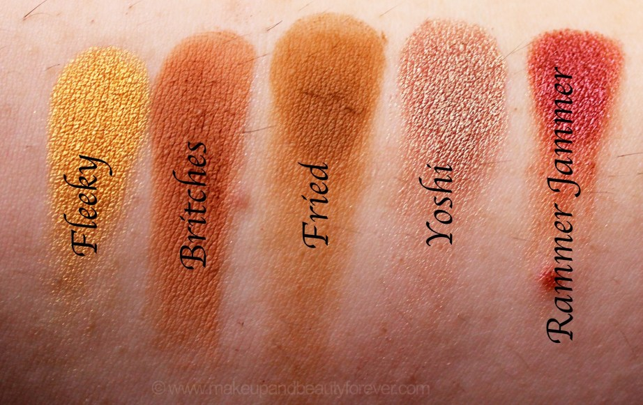 Violet Voss x Laura Lee Eye Shadow Palette Review Swatches Fleeky Britches Fried Yoshi Rammer Jammer