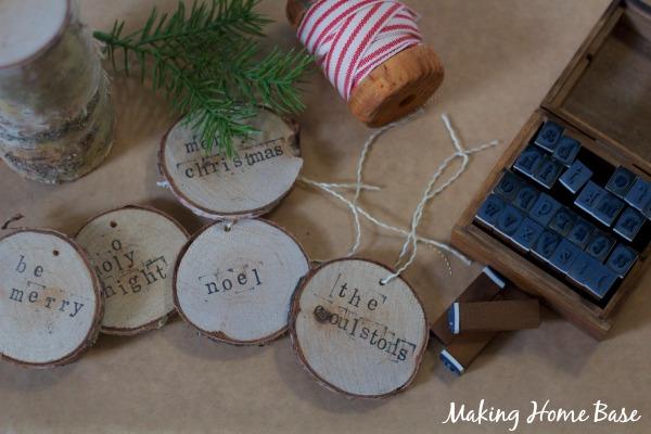 birch slice ornaments