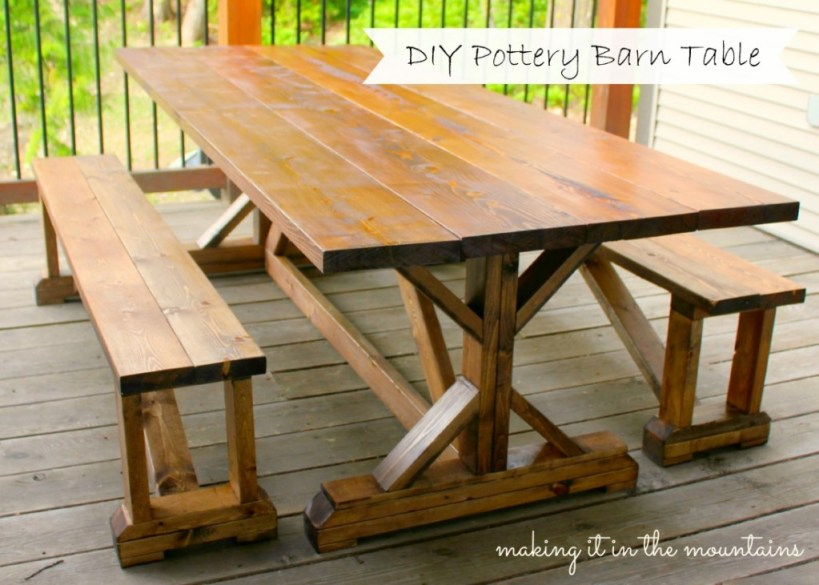 DIY Pottery Barn Table Knockoff @ making it in the mountains